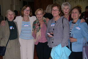 Ginny Judson, Jean Blair, Windsor League guests Rosemary O'Connell and Kathy Carroll, Janet Bruner, and Kathy Golas